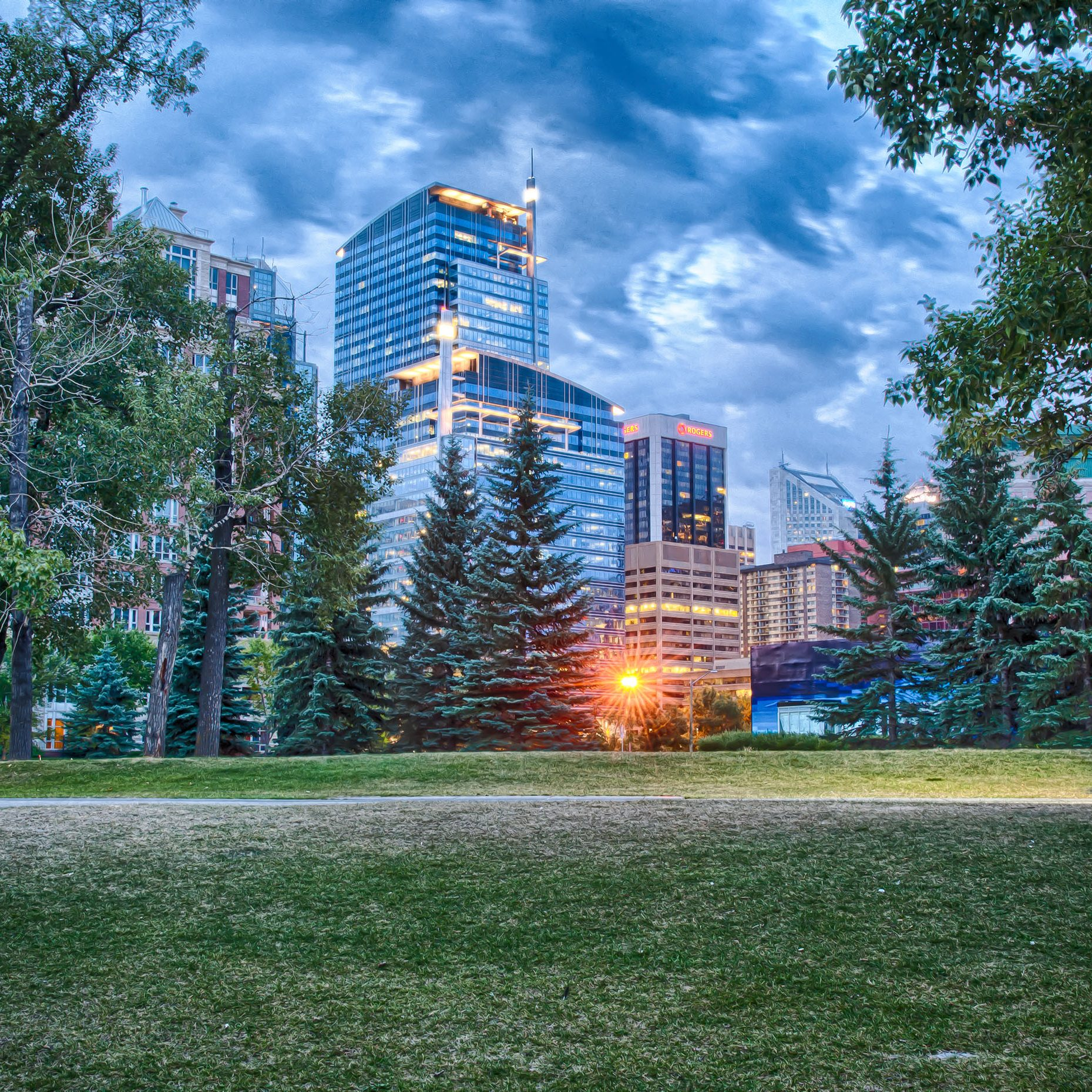 HDR shot of park in Calgary Canada.